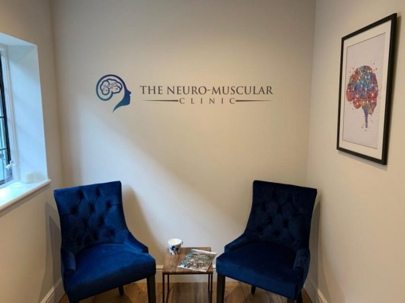 Waiting room at The Neuro-Muscular Clinic, Chiropractor in Woking