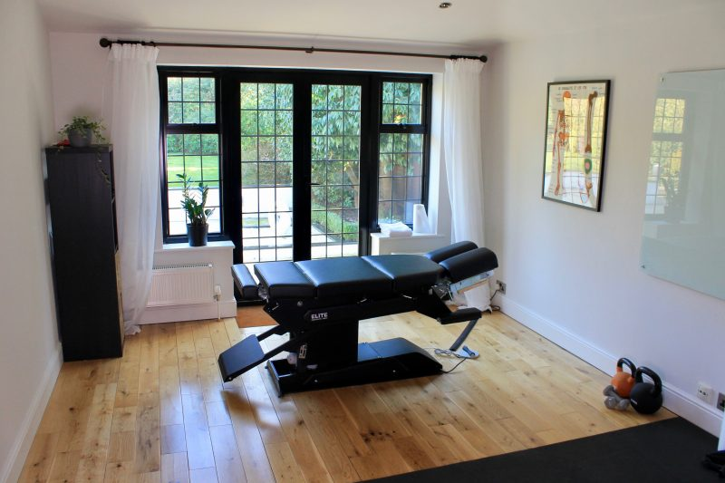 Treatment room at The Neuro-Muscular Clinic, Chiropractor in Woking
